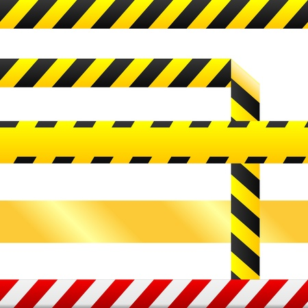 Caution or cuidado warning tape. Tape is blank so custom text can be inserted.  Vector