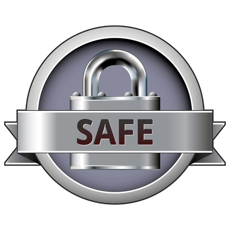 Safe on lock security icon for use on websites, in print, and in e-commerce.