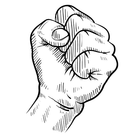 Doodle style protest fist vector illustration Stock Illustration - 11575047