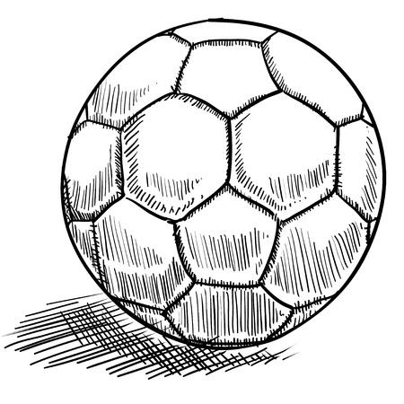 futbol soccer: Doodle style soccer or futbol vector illustration Stock Photo