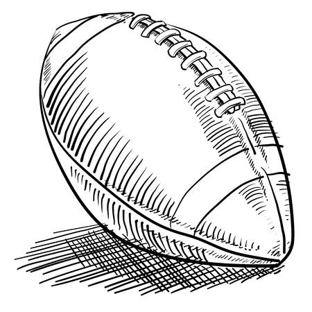 pelota caricatura: Doodle estilo de fútbol americano deportes de la ilustración en formato vectorial Foto de archivo