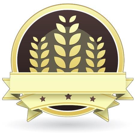 produits c�r�aliers: Blank �tiquette d'un aliment vecteur de organiques ou toute produits c�r�aliers � grains.