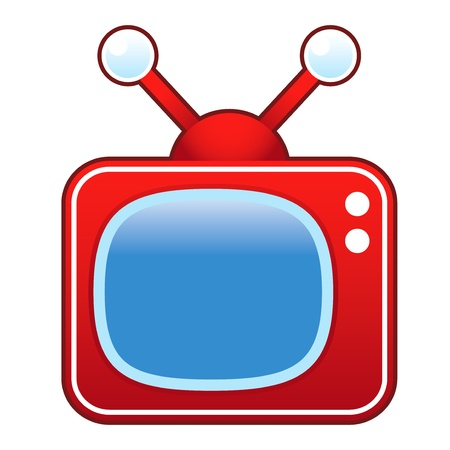 televised: Retro television set suitable for use in print, on websites, and in promotional materials.