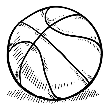 playoffs: Doodle style basketball vector illustration