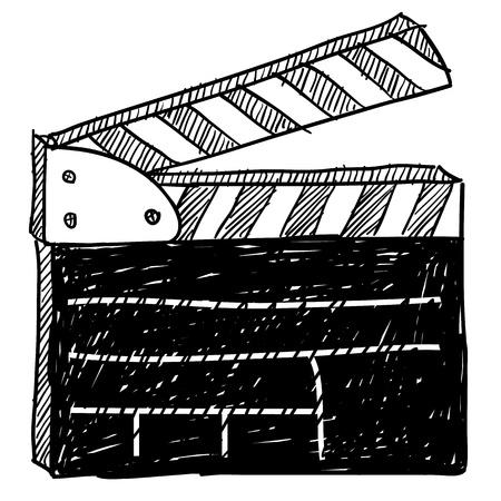 Doodle style movie set clapperboard vector illustration Stock Illustration - 11575087