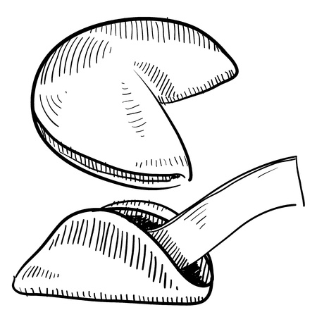 oodle style fortune cookie illustration in vector format