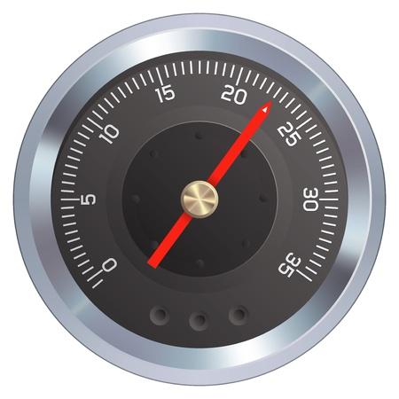 Gauge or meter illustration.  Stok Fotoğraf