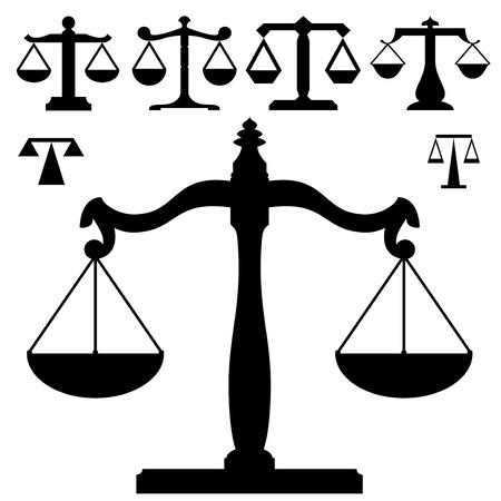 weighing scales: Scale di misura in silhouette e vari livelli di dettaglio