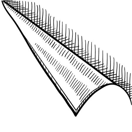 Doodle style peeling corner tab, sticker or background Иллюстрация