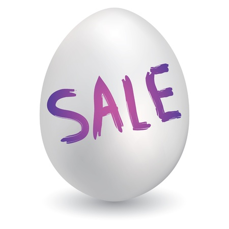 Doodle style retail sale sketch on decorated holiday Easter Egg in vector format  Vector