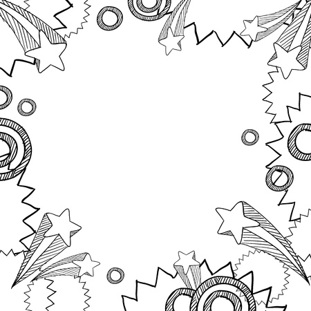 Doodle style retro pop explosion background in vector format