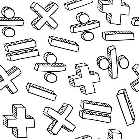 matematica: Las matem�ticas o la educaci�n de matem�ticas sin costura textura de fondo en formato vectorial listos para el embaldosado