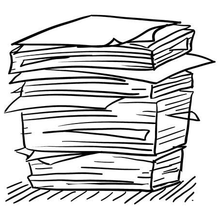 Doodle stijl papierwerk illustratie in vectorformaat