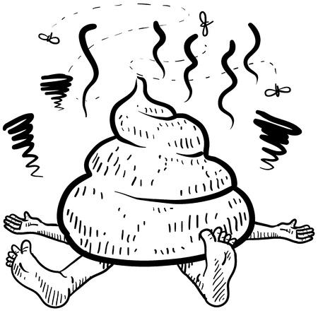 Doodle-Stil einen schlechten Tag Abbildung im Vektor-Format