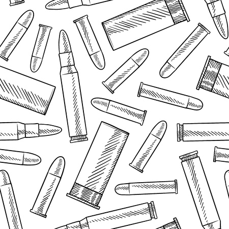 howitzer: Doodle style seamless bullets background illustration in vector format