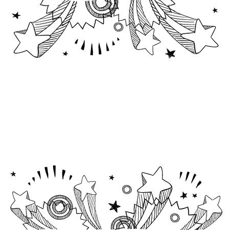 Doodle Stil Pop Explosion Grenze oder Hintergrund Illustration im Vektor-Format Standard-Bild - 14494775