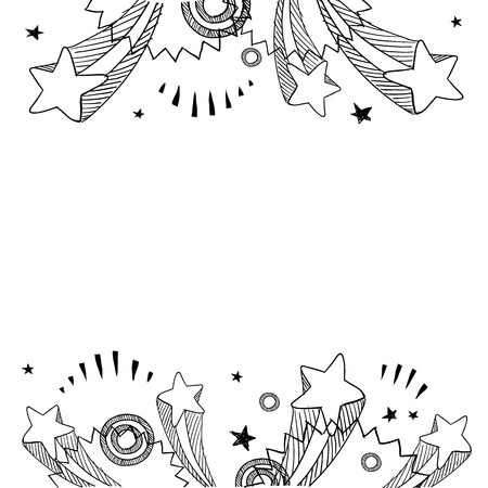 Doodle style pop explosion border or background illustration in vector format