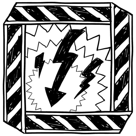 electrocution: Doodle style sketch in vector format