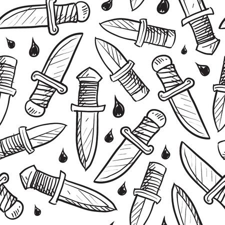 並べて表示するように設計スタイル ナイフ背景落書きベクター フォーマット