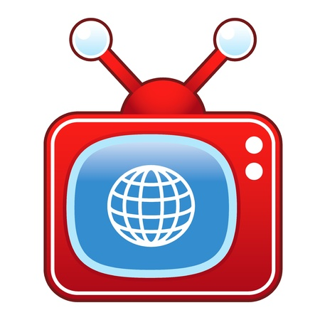 episode: Globe or international icon on retro television set