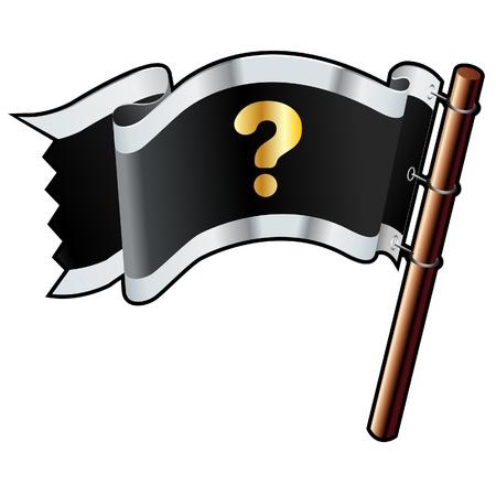 質問ヘルプ FAQ でまたはアイコン ブラック、シルバー、およびゴールドのベクトル フラグのウェブサイト、印刷物、または販促資料に使用のために