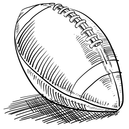 football kick: Doodle style american football sports illustration in vector format