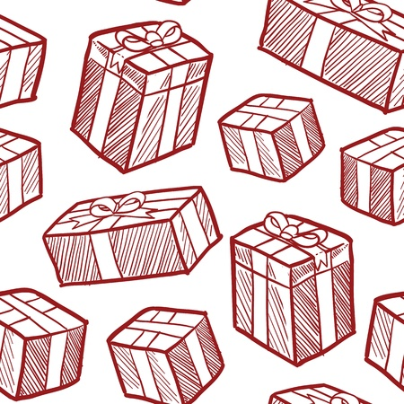 eamless doodle style Christmas or holiday presents vector background  Ready to be tiled Stock Photo - 16566822