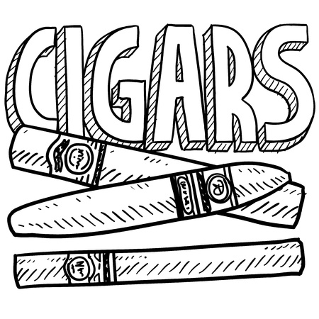 Doodle style cigars or tobacco illustration in vector format Imagens - 18304211