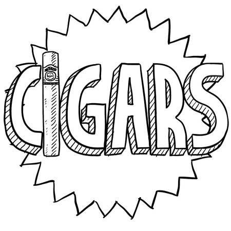 Doodle style cigars or tobacco illustration in vector format Imagens - 18304207