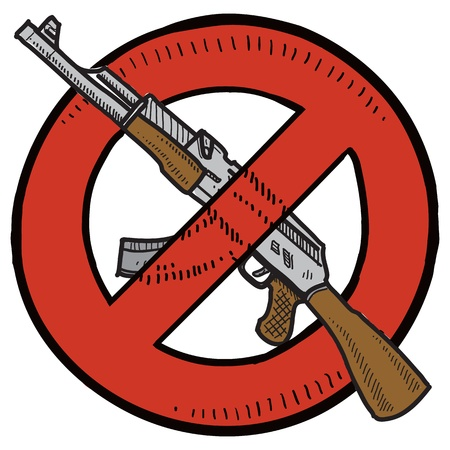 assault: Doodle style Assault Weapons Ban, rifle, or gun control
