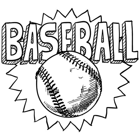 intramural: Doodle style baseball sports. Includes ball and title text