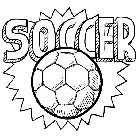 futbol soccer: Doodle style soccer or football illustration in vector format  Includes text and ball