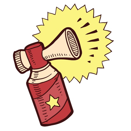 Doodle style air horn illustration in vector format