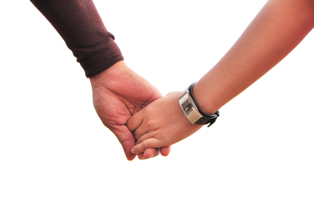 Hand holding together. Stock Photo