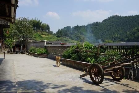 hunan: small village at Hunan, china Stock Photo