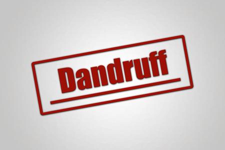 Disease - Header - Dandruff Stock Photo