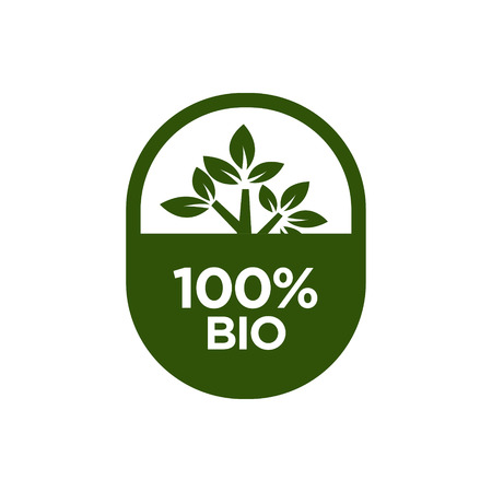 100% Bio icon. Vector illustration. Vectores