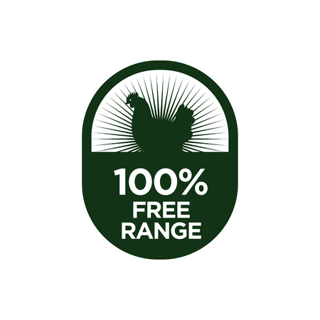 100% Free Range icon. Vector illustration.
