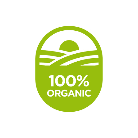 100% Organic icon. Vector illustration.