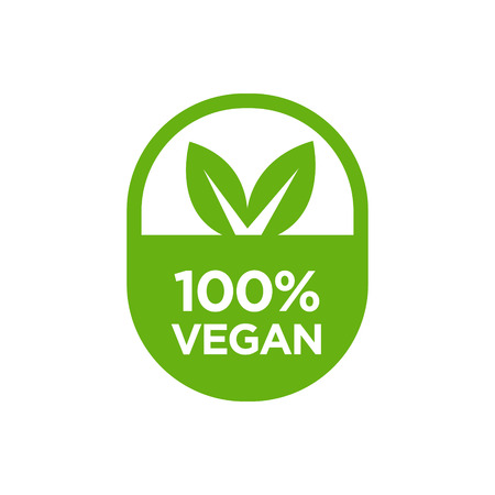 100% Vegan icon. Vector illustration.