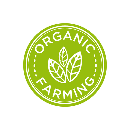 Organic Farming icon. Vector illustration. Çizim