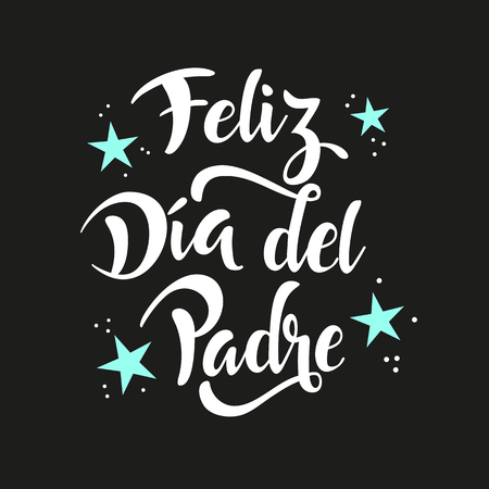 Happy Father's Day banner. Written in Spanish. Vettoriali