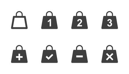 Shopping bag icon set vector. Vettoriali