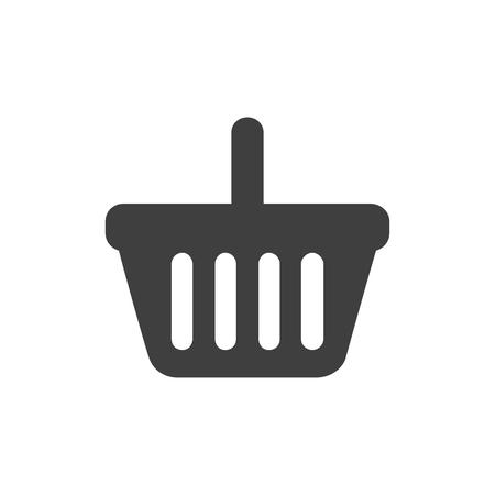 Shopping basket icon vector.