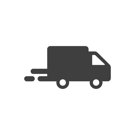 Shipping truck icon vector