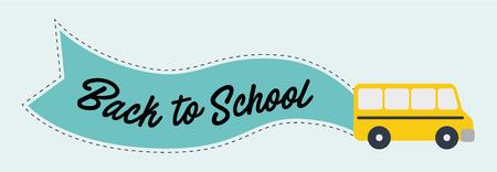 Back to School banner. Vector illustration.