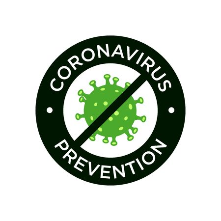 Coronavirus prevention icon illustration. MERS-Cov (Middle East Respiratory Coronavirus Syndrome), (2019-nCoV). Design concept for protection against a viral pandemic. 矢量图像