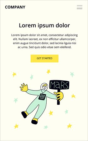 Space Tourism Guide. Future career concept. Modern vector illustration concepts for website and mobile website development. Ilustrace