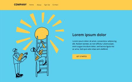 Future career concept. Modern vector illustration concepts for website and mobile website development.