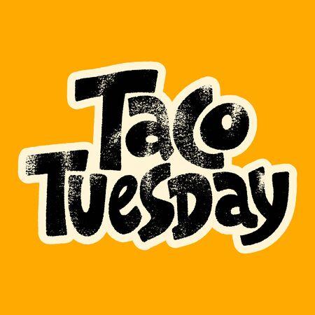 Taco Tuesday Vectores